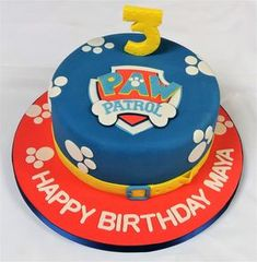 Inspiration Photo of Paw Patrol Birthday Cake Ideas Paw Patrol Geburtstagstorte Ideen Paw Paw Patrol Birthday Cake, 4th Birthday Cakes, Novelty Birthday Cakes, Birthday Ideas, Bolo Do Paw Patrol, Paw Patrol Torte, Paw Patrol Cupcakes, Pastel Paw Patrol, Cake Images