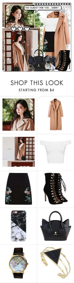 """In A Camel Coat // Rosegal"" by angelstylee ❤ liked on Polyvore featuring WearAll, Dorothy Perkins and Retrò"