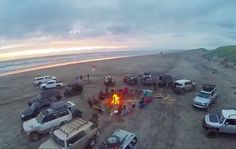 Little drone shot from Saturday's beach run! Stoked on everyone that was able to make it! Let's do it again soon #oregontrailoffroad  #ambassadorsofadventure #wewillbefree #welivetoexplore #offthebeatenpath #overlandlife #overlandcommunity #overlandempire #myoverlandadventure #adventuretime #adventuretildeath #lifeisadventure #lifeofadventure #liveadventurously #traillife #conquerthetrail #oceanview #bonfire #offthegrid #roadlesstraveled #neverstopexploring #anywhereispossible #thisisliving…