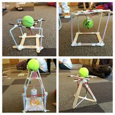 """Using everyday household materials, challenge children to build a """"hurricane"""" proof structure."""