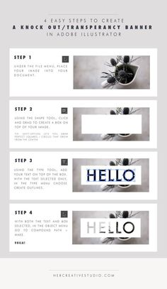 Diy Crafts Ideas : Hot to create a Knock out in Illustrator. A blog series of 'Designing Basics