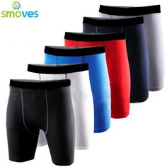 Smoves Men's Shorts Compression Gear Base Layer Casual Shorts Tights Quick Dry Size S-XXL New 2017 Free Shipping P74
