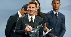 Messi - UEFA best player 2015 No surprises there