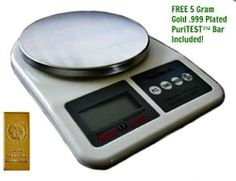1000g X .1g Digital Jewelry Gram Scale by DigiWeigh. $23.95. This scale measures with precision in g/ct/gn/oz and has a large high contrast LCD display for easy reading.  Perfect for lab chemicals, jewelry, diamonds, gemstones, gold, silver, coins, spices, gun powder, envelopes, food, dietary needs, and much more.. Save 66% Off!