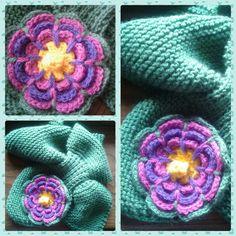 sciarpa con fiore