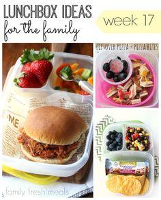 A week of School and Work Lunchbox Ideas - Familyfreshmeals.com