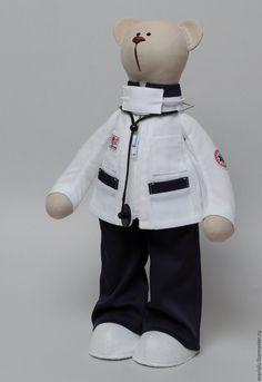 Купить Мишка-фельдшер скорой помощи - белый, врач, доктор, скорая помощь, медицина