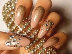 Pretty Nails with Gold Details nails ideas nails design Manicure Ideas featured  | See more at http://www.nailsss.com/french-nails/3/