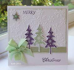 It's Ribbon Girl Time Again. Homemade Christmas Cards, Christmas Cards To Make, Xmas Cards, Diy Cards, Homemade Cards, Handmade Christmas, Holiday Cards, Christmas Crafts, Holiday Sayings