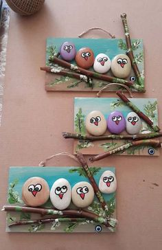 18 Colorful & Artsy Ideas for Painted Pebble and River Stone Crafts Diy Crafts For Adults, Fun Diy Crafts, Rock Crafts, Crafts For Kids, Arts And Crafts, Pebble Painting, Pebble Art, Stone Painting, Rock Painting