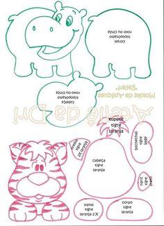 hipopótomo e tigre