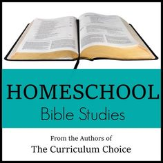 Homeschool Bible Studies - all our favorites from veteran homeschoolers with children of all ages!