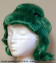 OOMPA LOOMPA WIG COSTUME New Dark Green Shipped Fast - Wiggy Willy Wonka Workers