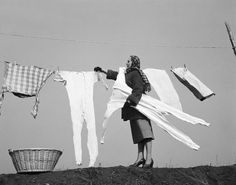 Doing the laundry in cold weather/frozen clothes