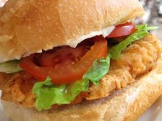 Wendy's Spicy Chicken Fillet Sandwich: To make this a little healthier, just broil the sandwiches in the oven.