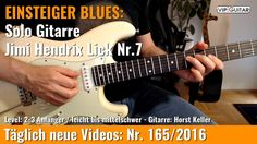 ✪ EINSTEIGER BLUES ►Jimi Hendrix Lick Nr.7