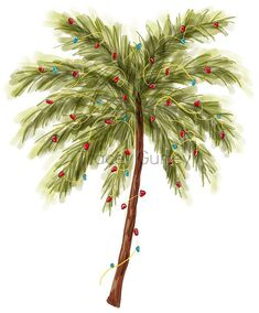 Ideas For Palm Tree Clipart Backgrounds Beach Christmas Trees, Christmas Tree Clipart, Real Christmas Tree, Tropical Christmas, Christmas Art, White Christmas, Coastal Christmas, Christmas Decorations, Christmas Ornaments