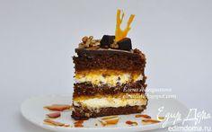 """Торт """"Шоколад, кофе, абрикос""""   Кулинарные рецепты от «Едим дома!»"""