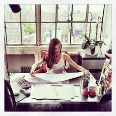 Georgina Chapman's studio