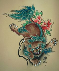 asian Foo dog guardian lion art