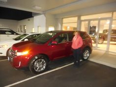 Mark Craig and the rest of us here at Court Street Ford would like to congratulate Cindy Idleman of Manteno on the purchase of her 2013 Ford Edge.  Thank you for your business Cindy!