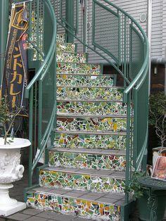 Mosaic stairs, Kitano, Kobe