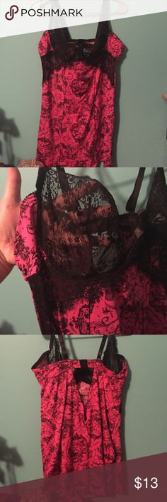 PLUS SIZE LINGERIE Plus size lingerie with bra back closure and see through lace cups. Never worn! Intimates & Sleepwear
