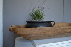 Antique-primitive-wooden-dough-bowl