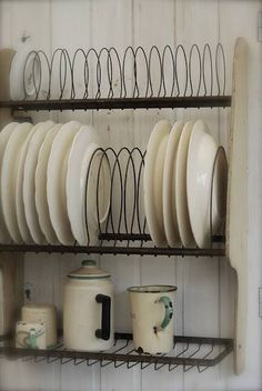 Small kitchen plate organizing idea