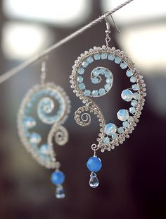 wow, beautiful wire wrapped earrings Love the way the beads are wrapped; perfect size and shape.