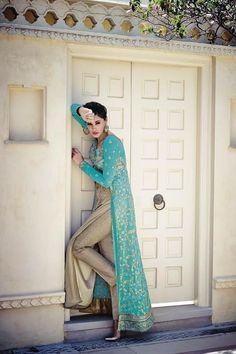 Royal and appealing nargis fakhri georgette anarkali style dress KASEESH-NF2-7325