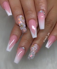 Do you also want to find a beautiful coffin nails? We carefully prepared beautiful coffin nails. Get ready to be touched! Bling Acrylic Nails, Summer Acrylic Nails, Glam Nails, Best Acrylic Nails, Dope Nails, Fancy Nails, Pink Nails, Coffin Nails, Cute Acrylic Nail Designs