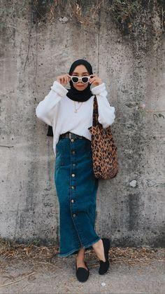 Hijab Wear, Casual Hijab Outfit, Hijab Chic, Muslim Fashion, Modest Fashion, Fashion Outfits, Nalu, Hijab Fashion Inspiration, Modest Wear