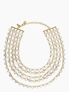 pearl cove bib necklace | Super cute! Would dress up any T!