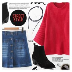 """""""Street Style"""" by pokadoll ❤ liked on Polyvore featuring polyvoreeditorial and polyvoreset"""