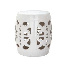 Outdoor Safavieh Blossom Ceramic Garden Stool, White