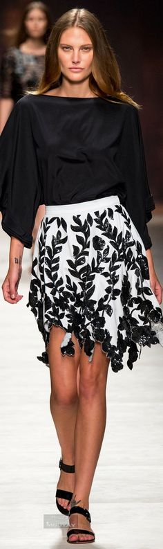 Blumarine Spring 2015 | The House of Beccaria~ (inspiration for top)
