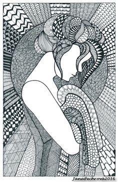 Beautiful zentangle graphic design art, adult coloring pages, doodle ar Doodle Art Drawing, Zentangle Drawings, Mandala Drawing, Abstract Drawings, Art Drawings Sketches, Zentangles, Zantangle Art, Zen Art, Mandala Art Lesson