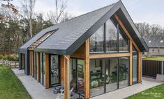 Architecture – Enjoy the Great Outdoors! Modern Small House Design, Modern Barn House, Small Cottage Homes, House On Stilts, House Extension Design, Bungalow Homes, Modern Farmhouse Exterior, Forest House, Dream House Plans