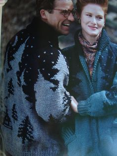 Men's & Women's Jacket and Pullover Knitting Pattern/ Patons 537 Portage Volume 2/ Size S-M-L-XL/Chest 30''- 44'' Sweater, Aran, Fair Isle