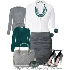 Gray & Turquoise - Polyvore