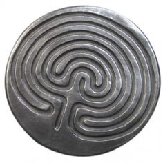 """This is my Cretan finger labyrinth from the Wild Goose Studio, """"designed by Kathleen Smyth, cast by hand at Kinsdale, Co. Cork, Ireland."""""""