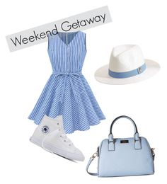 """Weekend Getaway"" by lollyglol on Polyvore featuring Melissa Odabash, Kate Spade and Converse"