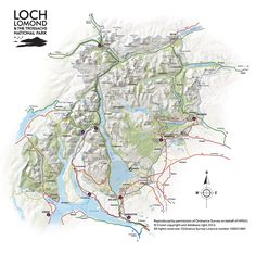 Map of Loch Lomond