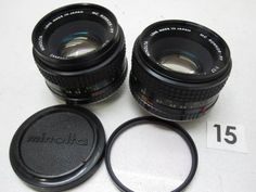 5L340HA MINOLTA 50mm F1.7 レンズまとめて2本ジャンク_画像1
