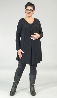Bodycelli.nl Dè webshop voor grote maten dameskleding! :: tuniek :: tuniek gedrapeerd Yoek
