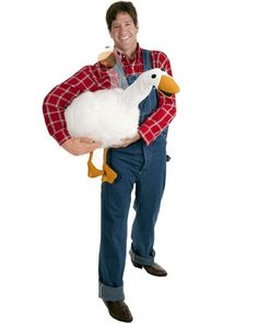Farmer and Goose Puppet Mens Costume