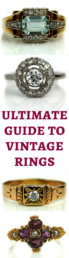 Antique rings from Victorian to Art Deco!