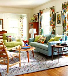 Bring Color To Your Home With 17 Inspiring Pics. Fun RecipesColorful Living  RoomsLiving ...
