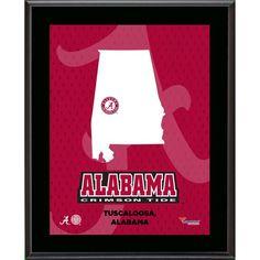 "Alabama Crimson Tide Fanatics Authentic 10.5"" x 13"" Sublimated State Plaque - $29.99"
